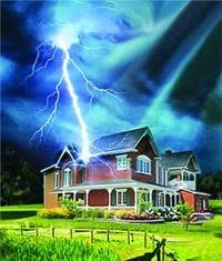 Молниезащита зданий, молниеприемник г.Искитим