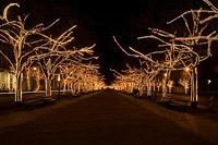 Подключение освещения зданий в Искитиме